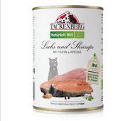 Tackenberg - BIO Lachs und Shrimps mit Huhn und Kresse, DE-ÖKO-003 [229740001] 400 g
