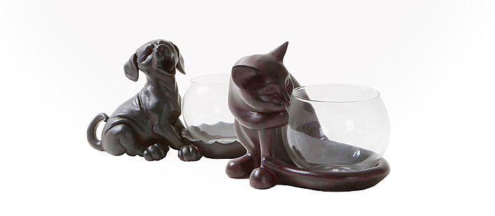Teelicht Hund/Katze