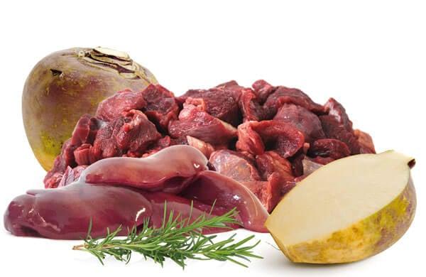 Produkt Bio Barf Menü Rind-Putenleber-Steckruebe-Rosmarin